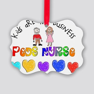Peds Nurse 2012 Kids are business Picture Ornament