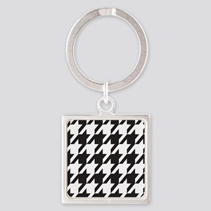 houndsooth square 1 Square Keychain