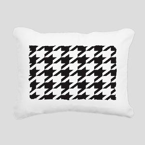 houndsooth shirt  2 Rectangular Canvas Pillow