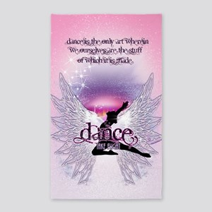 Dance is the Only Art Poster 3'x5' Area Rug