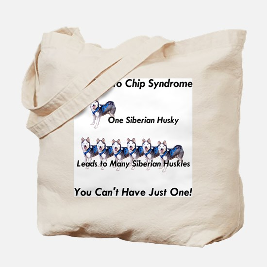 Siberian Husky Potato Chip  Tote Bag