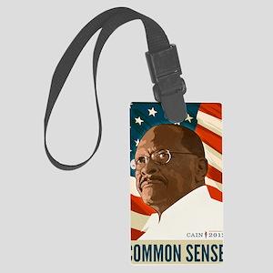 Herman Cain Common Sense 2012 Large Luggage Tag
