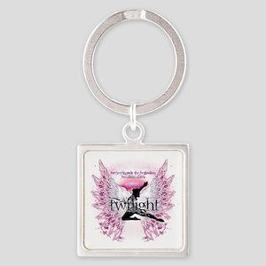 breaking dawn crystal angel by twi Square Keychain