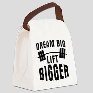 dream-big-lift-bigger Canvas Lunch Bag