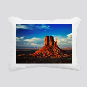 Monument Valley Icon Rectangular Canvas Pillow