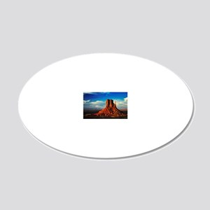 Monument Valley Icon 20x12 Oval Wall Decal