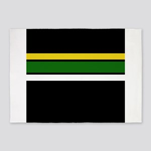 Team Colors 2 ...Yellow,green and w 5'x7'Area Rug