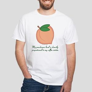 GA Peachiness Level White T-Shirt