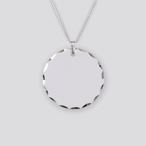 white, fastpitch Necklace Circle Charm