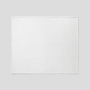 white, fastpitch Throw Blanket