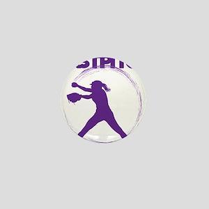 purple, fastpitch Mini Button