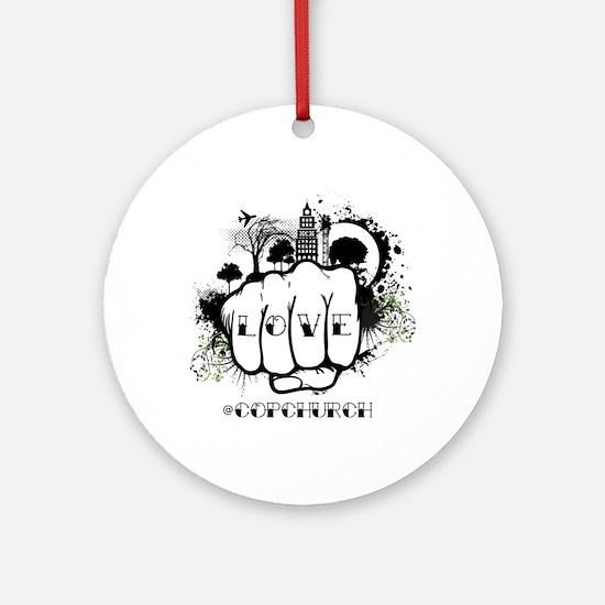 love-grunge-twitter Round Ornament