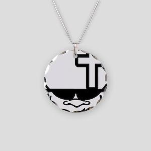 BigHeadZ Cross Necklace Circle Charm