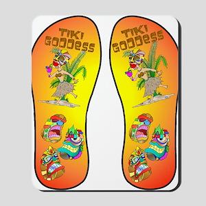 Tiki Goddess Flip Flop Mousepad