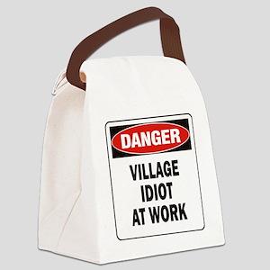 DN VILL IDIOT WORK Canvas Lunch Bag