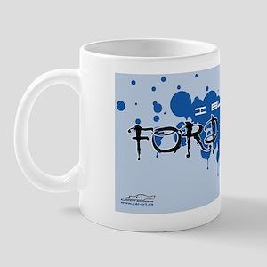 I_bleed_ford_blue_LP_ Mug