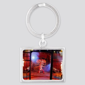 WSW IRMAOS SANTOS CAGE FLAMES 1 Landscape Keychain