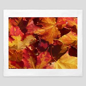 Autumn Thanksgiving Leaves King Duvet