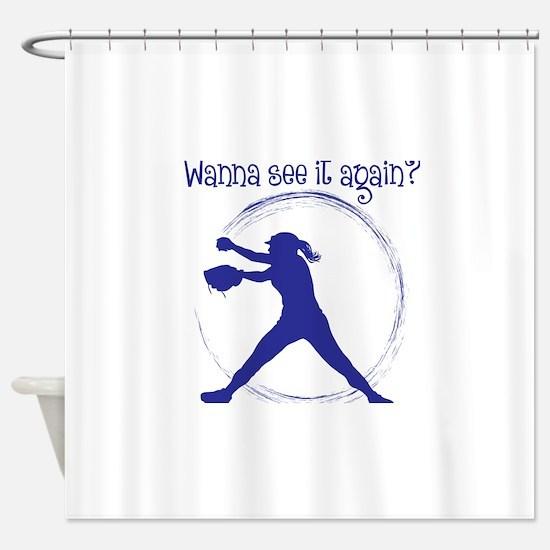 blue, Again Shower Curtain