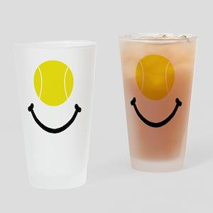 FBC Tennis Smile Black Drinking Glass