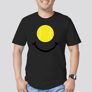 FBC Tennis Smile Black Men's Fitted T-Shirt (dark)