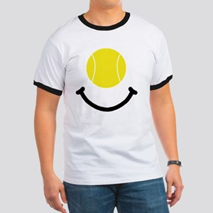 FBC Tennis Smile Black Ringer T
