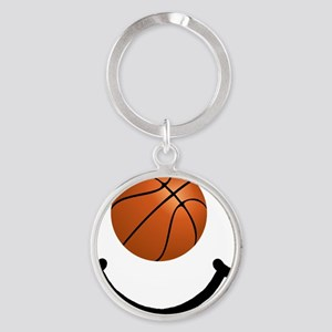 FBC Basketball Smile Black Round Keychain