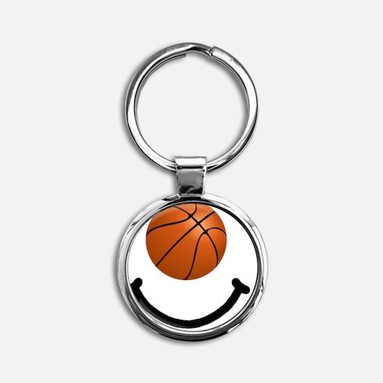 FBC Basketball Smile Black Round Keychain
