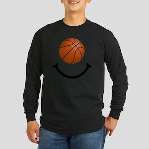FBC Basketball Smile Blac Long Sleeve Dark T-Shirt