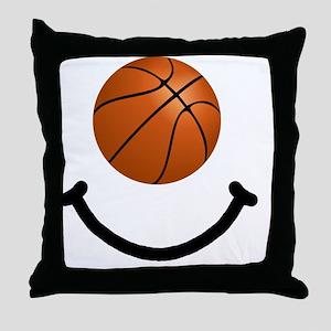 FBC Basketball Smile Black Throw Pillow