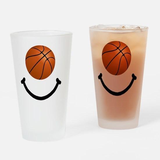 FBC Basketball Smile Black Drinking Glass