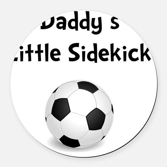 FBC Daddy Sidekick Black Round Car Magnet