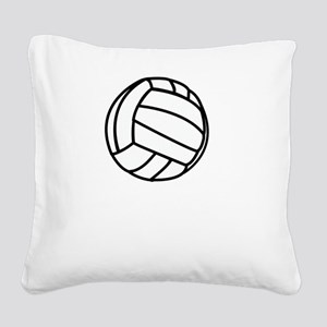 FBC Volleyball Smile White Square Canvas Pillow