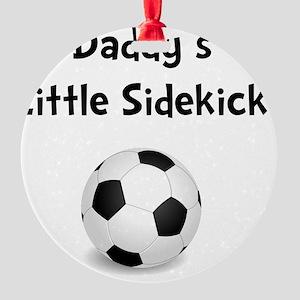 FBC Daddy Sidekick Black Round Ornament