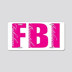 FBI FEMALE Aluminum License Plate