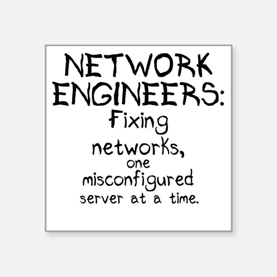 """network-engineers Square Sticker 3"""" x 3"""""""