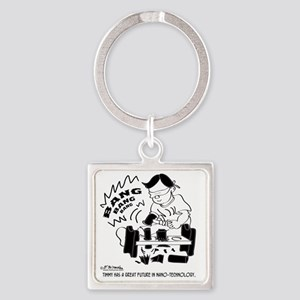 8555_kid_cartoon Square Keychain
