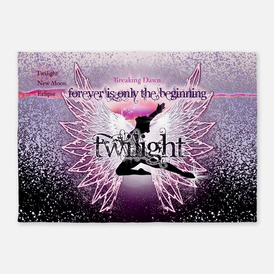 breaking dawn pink angel good copy 5'x7'Area Rug