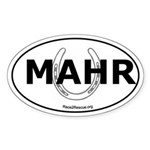 MAHR Race2Rescue Horseshoe Oval Sticker