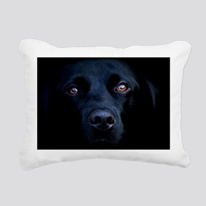 blacklab license Rectangular Canvas Pillow