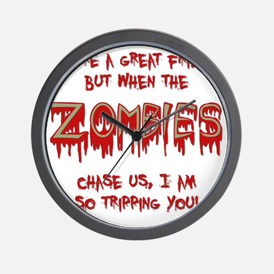 When Zombies Chase Us Wall Clock