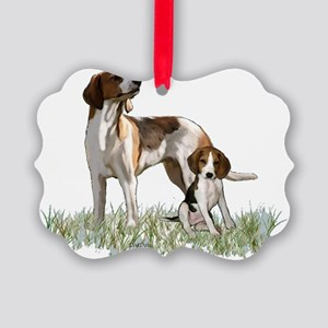 walker coonhounds Picture Ornament