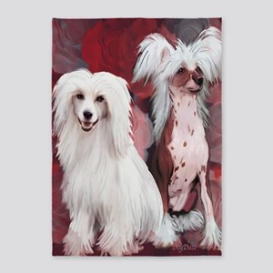 chinese crested blanket 5'x7'Area Rug