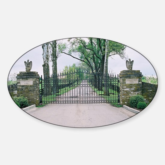 Spendthrift Farm Gates Sticker (Oval)