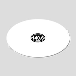 140_kona_blk 20x12 Oval Wall Decal