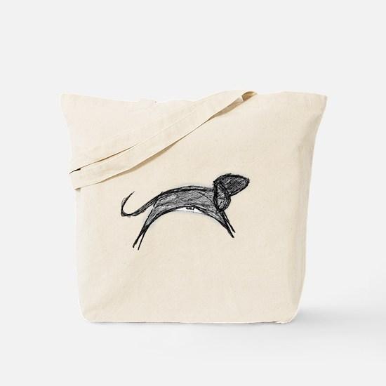 Jumping Running Dog Tote Bag