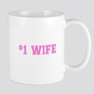 #1 Wife pink Mugs