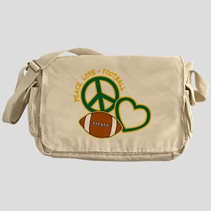 greenyellow, Peace, Love, Football Messenger Bag