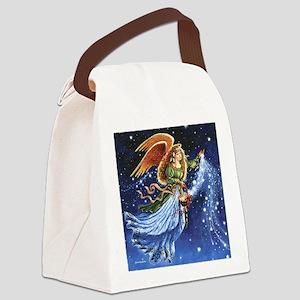 Angel Star Basket_Tile Canvas Lunch Bag