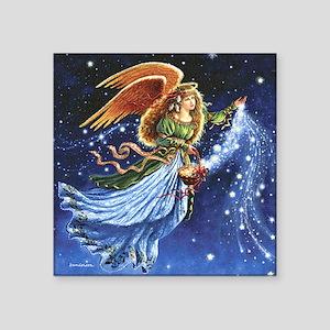 """Angel Star Basket_Tile Square Sticker 3"""" x 3"""""""